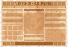 Vintage Old Newspaper Vector