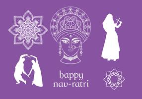 Navratri Vector Elements