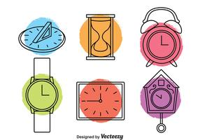 Clock Icons Vector