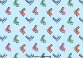 Flat Roller skaters Pattern Background