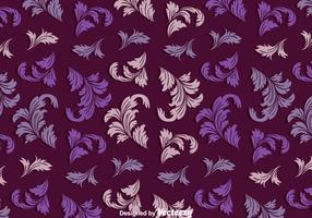 Vintage Acanthus Purple Pattern
