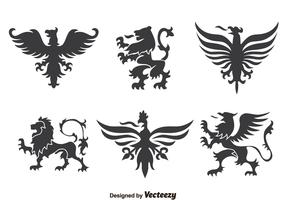 Heraldry Ornament Collection Vector