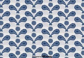 Blue Cashmere Ornament Pattern