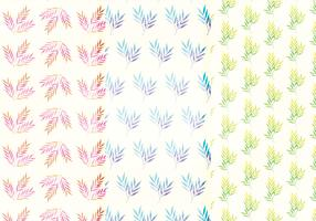 Vector Watercolor Branch Patterns