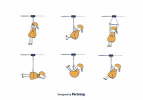 Cartoon Zipline Vector