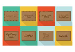 Free Welcome Mat Designs Vector