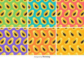 Papaya Vector Patterns