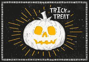 Bright Halloween Pumpkin Vector Illustration