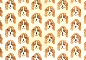 Vector Watercolor Dog Pattern