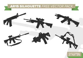 AR15 Silhouettes Free Vector Pack