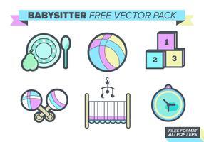 Babysitter Free Vector Pack