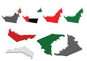 Free UAE Map Vector