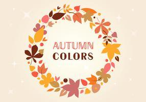 Free Autumn Vector wreath