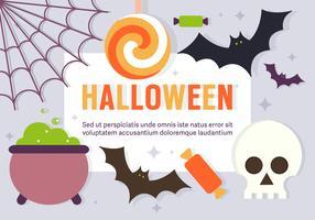 Elementos libres del vector de Halloween de la diversión
