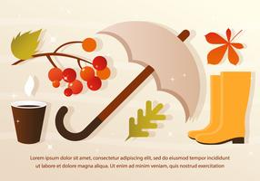 Free Vector Rainy Fall Elements
