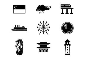 Free Singapore Icons Vector
