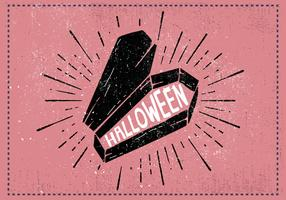 Halloween Coffin Vector Illustration