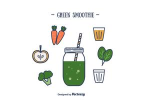 Green Smoothie Vector