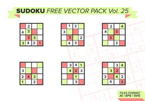 Sudoku Free Vector Pack Vol. 25