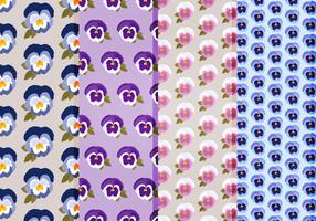 Pansies Vector Patterns