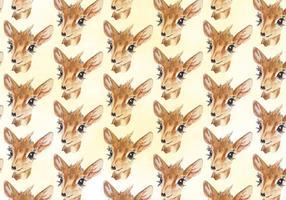 Free Vector Deer Watercolor Pattern
