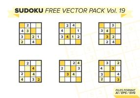 Sudoku Free Vector Pack Vol. 19