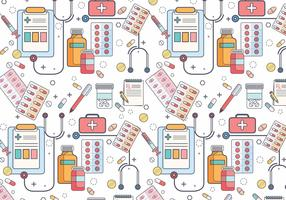 Prescription Pad Pattern Vector