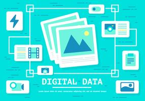 Free Digital Data Vector