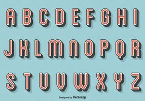 Free Vector Retro Letters
