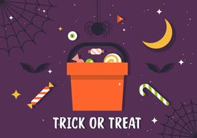 Free Trick or Treat Candy Illustration