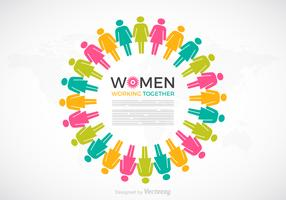 Women Working Together Vector Concept