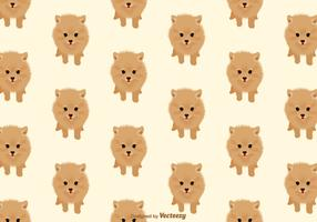 Pomeranian Dog Vector Pattern