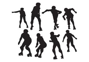 Free Roller Skating Silhouettes Vector