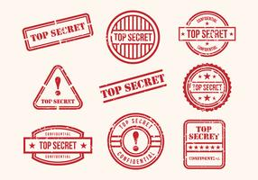 Free Top Secret Stamps Vector