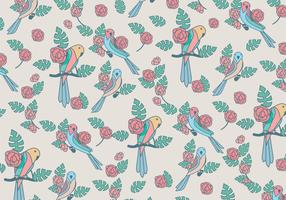 Budgie Beauty Pattern Vector