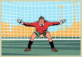 Goal Keeper Standing Vector