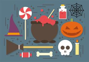 Witch Cauldron Halloween Elements Vector Collection