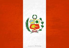 Free Vector Grunge Peru Flag
