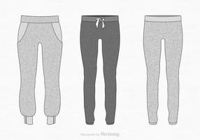 Free Vector Sweatpants Illustration
