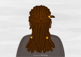 Free Vector Dreads Hairstyle Illustration