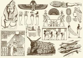 Sepia Egypt Art
