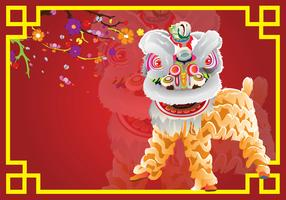 Lion Dance Card Background
