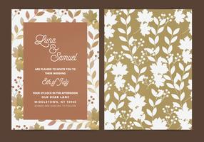 Vector Fall Leaf Wedding Invite