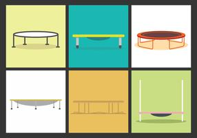 Trampoline Vector Illustrations