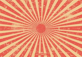 Red Grunge Style Sunburst Background
