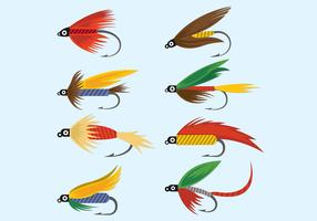Vector Of Fly Fishing Lures Hook