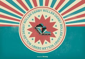 Retro Roller Derby Illustration