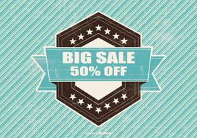 Retro Big Sale Illustration