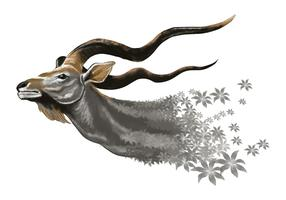 Whimsical Kudu Vector