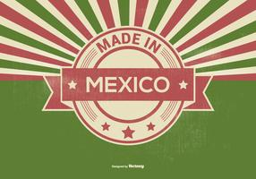 Retro Made in Mexico Illustration
